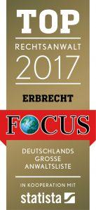 Top Rechtsanwalt Focus 2017
